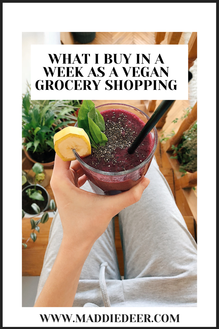 What I buy in a week grocery shopping as a vegan