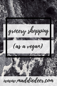 how to grocery shop as a vegan