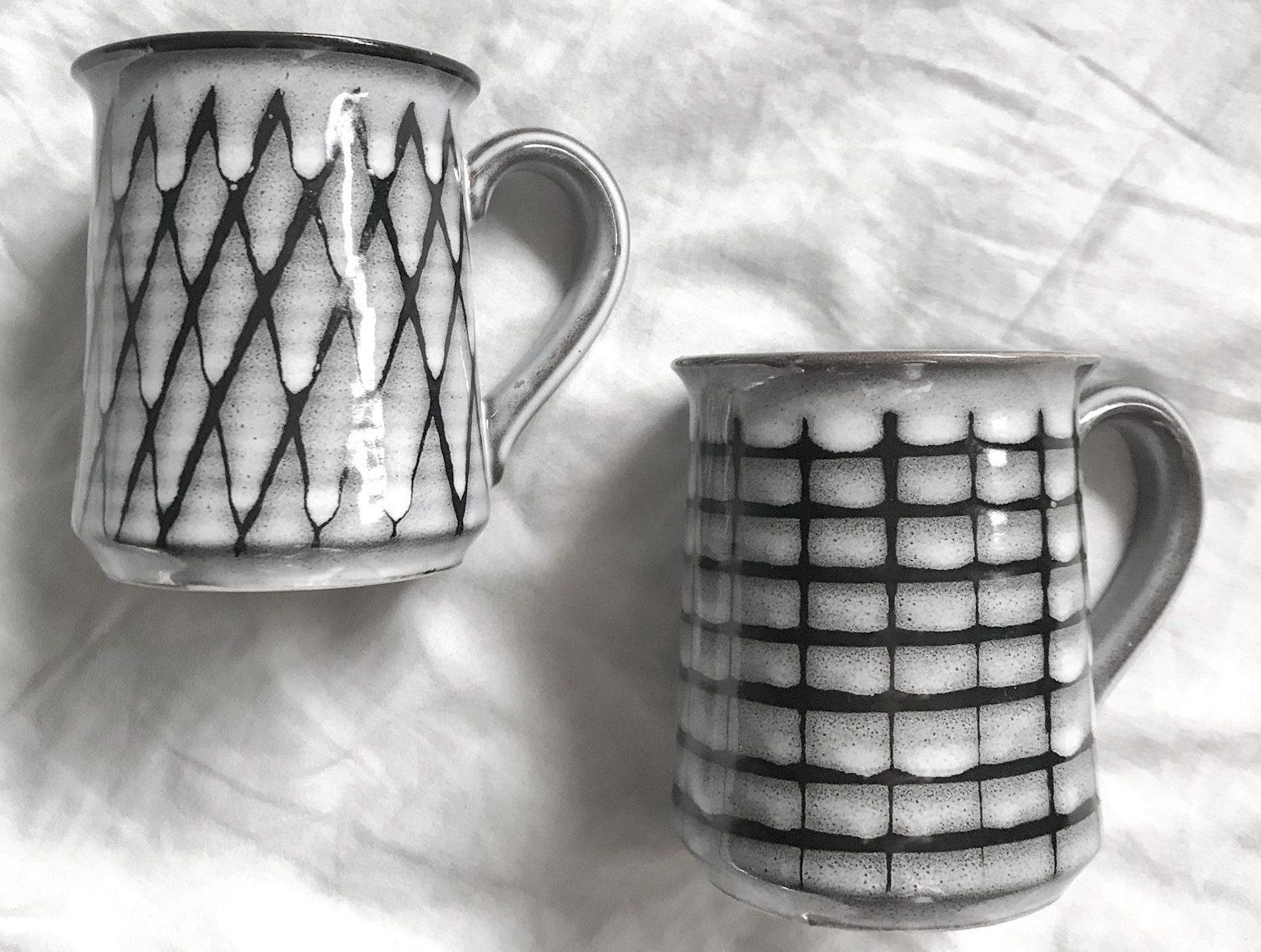 Mid Century Ceramic Mugs Vintage