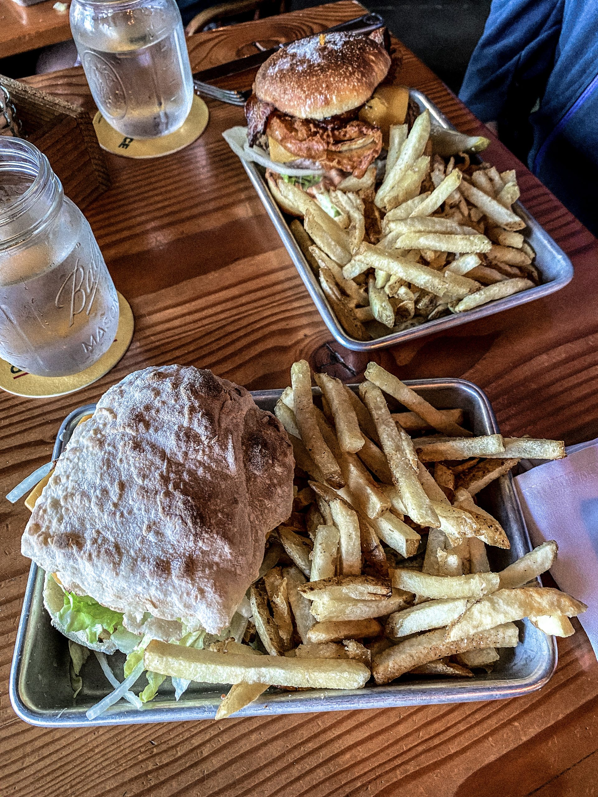 Fort George Brewery Burgers in Astoria, Oregon