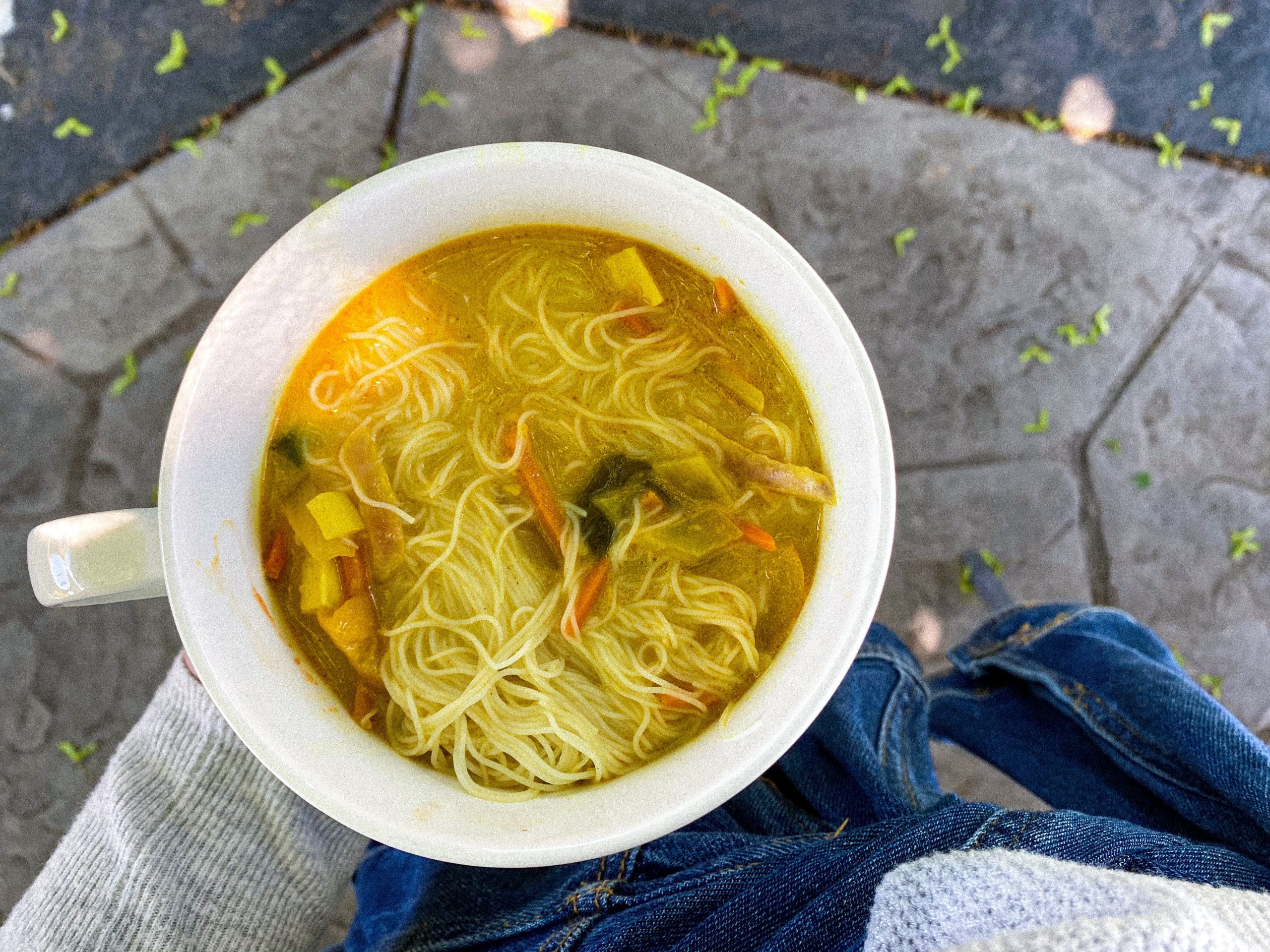 What I eat in a day curry soup