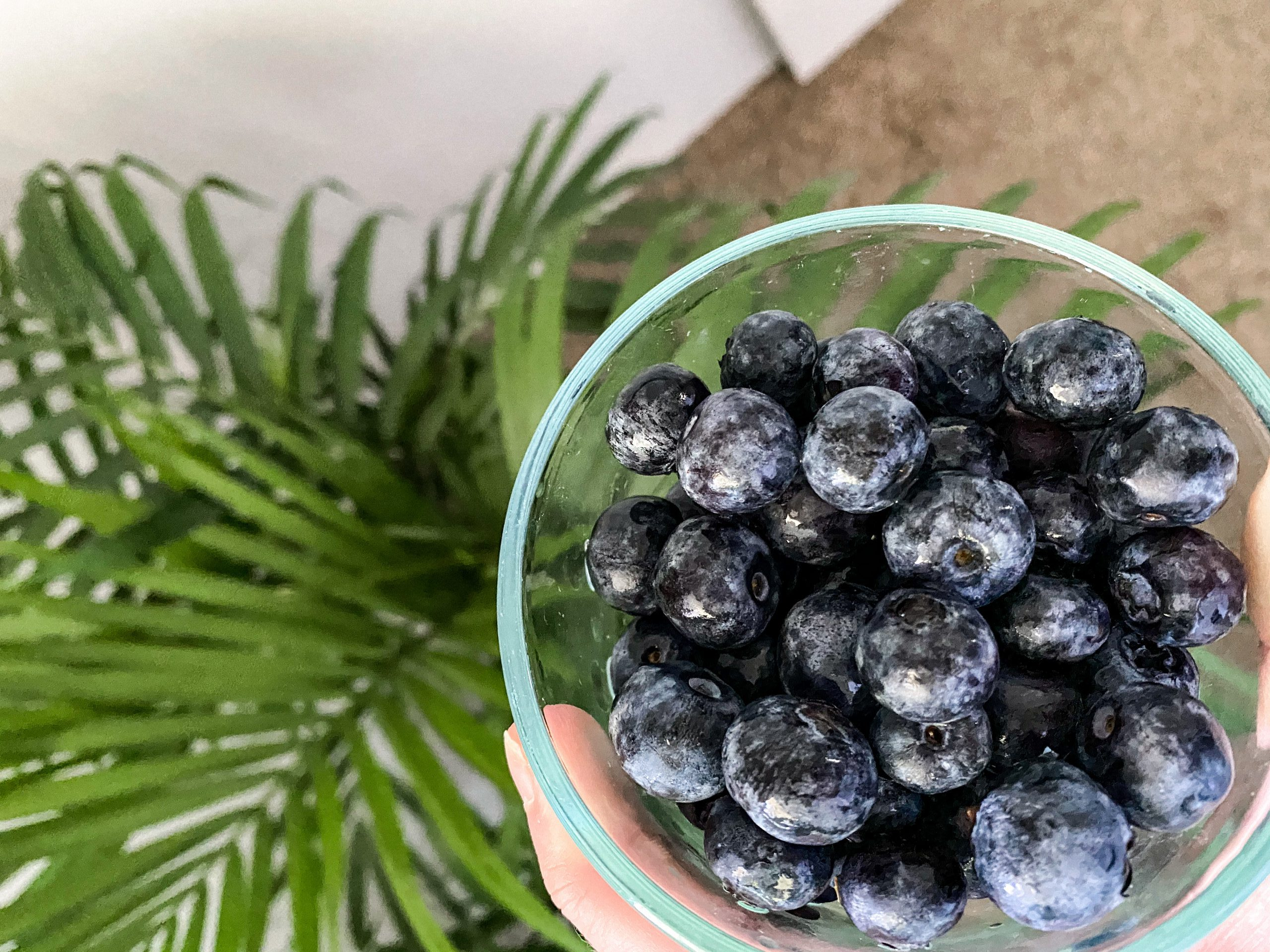 What I eat in a day at home blueberries