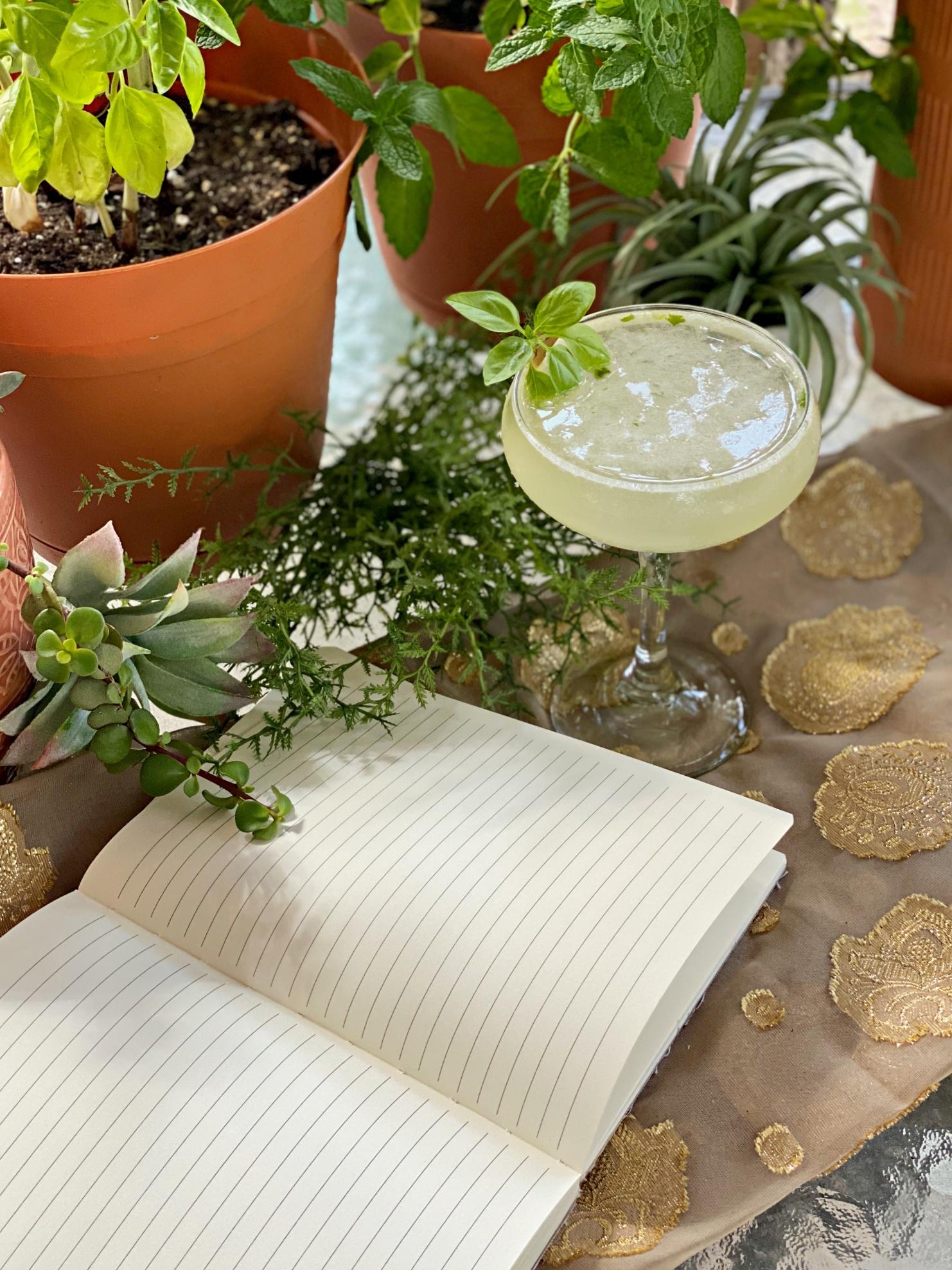 the novelist's garden cocktail