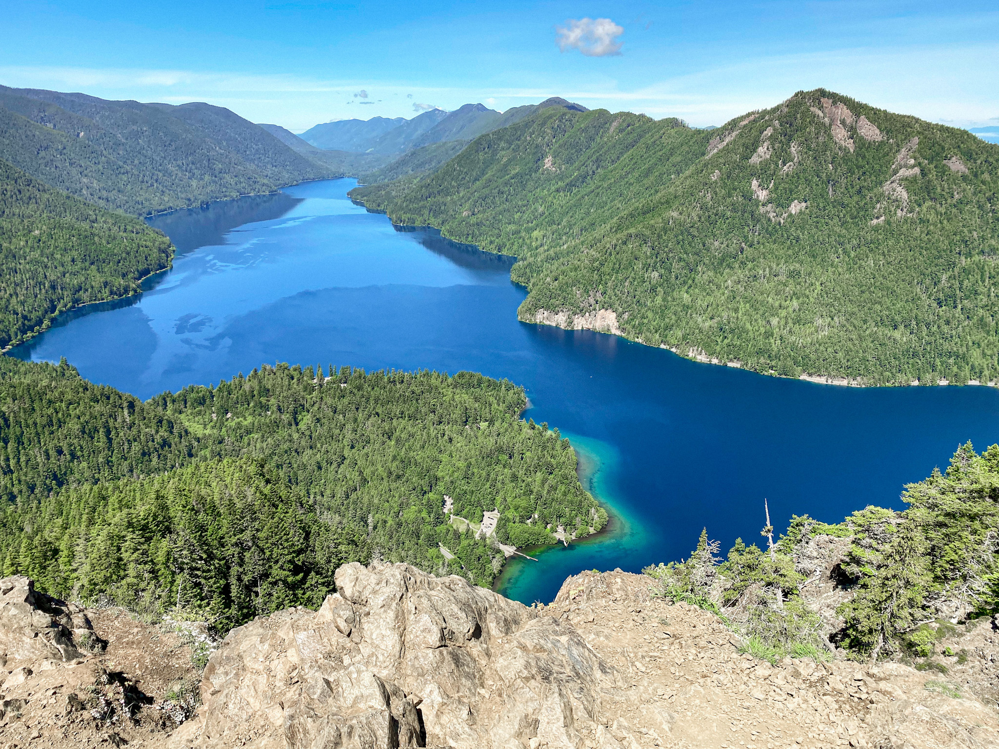 Lake Crescent from Mount Storm King Summit
